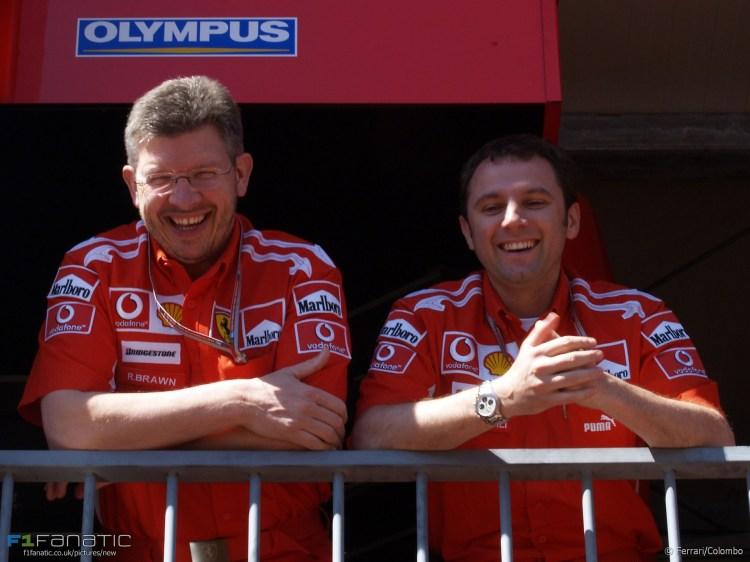 Ross Brawn, Stefano Domenicali, Ferrari, 2005 · RaceFans