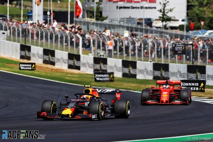 Pierre Gasly, Sebastian Vettel, Silverstone, 2019