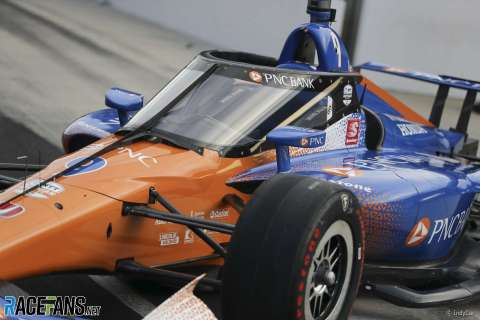 Scott Dixon, Ganassi, IndyCar Aeroscreen test, Indianapolis Motor Speedway, 2019