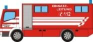 Maqueta 3D del Mercedes Benz Atego de bomberos. Manualidades a Raudales.