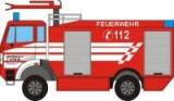 Maqueta 3D del Mercedes Benz SK 2 de bomberos. Manualidades a Raudales.