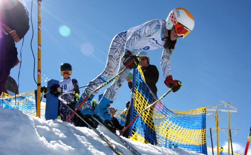 One of the advantages of junior ski racing for Penelope Hughes of Australia was placing 6th in the National Childrens Championship Giant Slalom 2014