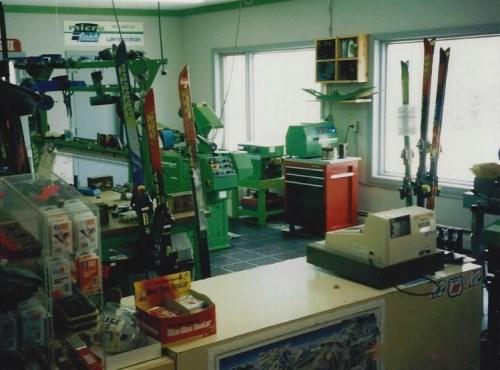 Peak Ski Shop Ski Tuning circa 1992-1993 with a Wintersteiger Micro 1