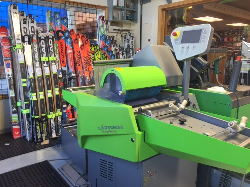 Peak Ski Shop ski tuning with the Wintersteiger Omega RS350.