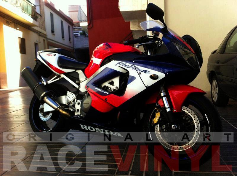 Honda CBR 954 RR Azul Race CBR 900 RR Javier completa
