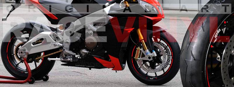 Racevinyl Aprilia RSV 4 vinilo llanta rueda pegatina adhesivo rojo
