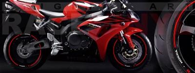 Racevinyl Honda generico logo CBR 600 RR rojo