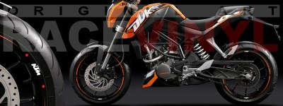 Racevinyl KTM Super duke vinilo llanta rueda pegatina adhesivo naranja