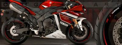 Racevinyl Yamaha R1 Race rojo