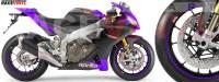 Racevinyl Adhesivos llanta sticker vinyl rim aprilia rsv violeta