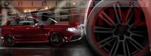 Racevinyl Audi A3 RS3 S3 Vinilo vinyl rim burdeos