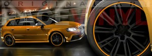 Racevinyl Audi A3 RS3 S3 Vinilo vinyl rim naranja