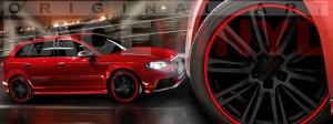 Racevinyl Audi A3 RS3 S3 Vinilo vinyl rim rojo