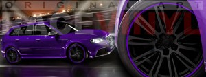 Racevinyl Audi A3 RS3 S3 Vinilo vinyl rim violeta