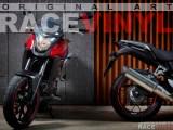 Honda CB 500 X with Racevinyl rim stickers.