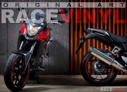 Racevinyl Honda CB 500 X CB500X F CB500F Rim Sticker vinyl pegatina adhesivo llanta rueda moto generica con logotipo