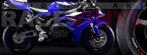 Racevinyl Honda CBR 600 RR vinyl rim wheel sticker stripe pegatina adhesivo llanta rueda vinilo azul blue