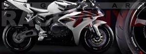 Racevinyl Honda CBR 600 RR vinyl rim wheel sticker stripe pegatina adhesivo llanta rueda vinilo blanco white