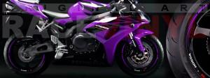 Racevinyl Honda CBR 600 RR vinyl rim wheel sticker stripe pegatina adhesivo llanta rueda vinilo violeta purple violet