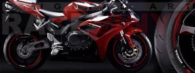 Racevinyl Honda generico logo CBR 600 RR burdeos