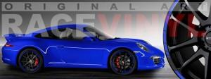 Racevinyl Porsche 911 carrera s cayenne panamera boxter vinilo azul