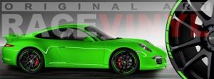 Racevinyl Porsche 911 carrera s cayenne panamera boxter vinilo verde