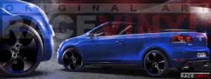 Racevinyl Volkswagen Golf GTI vinilo pegatina adhesivo Spire vinyl sticker llanta rueda azul
