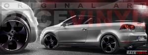 Racevinyl Volkswagen Golf GTI vinilo pegatina adhesivo Spire vinyl sticker llanta rueda negro