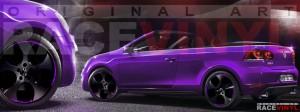 Racevinyl Volkswagen Golf GTI vinilo pegatina adhesivo Spire vinyl sticker llanta rueda violeta