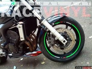 Racevinyl YAMAHA FZ6 n Rim Sticker vinyl pegatina adhesivo llanta rueda moto generica con logotipo 02