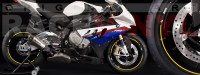 Racevinyl pegatinas llanta moto vinilo sticker rim wheel BMW S1000rr amarillo
