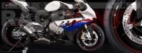 Racevinyl pegatinas llanta moto vinilo sticker rim wheel BMW S1000rr burdeos