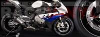 Racevinyl pegatinas llanta moto vinilo sticker rim wheel BMW S1000rr cromado