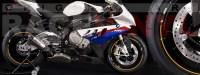 Racevinyl pegatinas llanta moto vinilo sticker rim wheel BMW S1000rr dorado