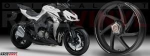 Racevinyl Kawasaki Z1000 ARROW pegatina vinilo llanta adhesivo rim sticker stripes wheel blanco