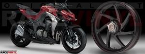 Racevinyl Kawasaki Z1000 ARROW pegatina vinilo llanta adhesivo rim sticker stripes wheel burdeos