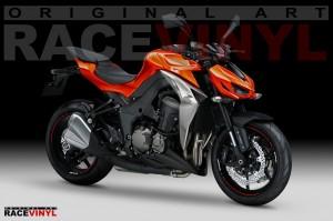 Racevinyl Kawasaki Z1000 Vinilo pegatinas bandas vinilos llantas rim stickers tripes wheel moto
