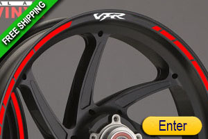 HONDA VFR RIM STICKERS