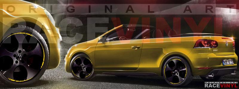 Racevinyl Spire Car Rim Stripes