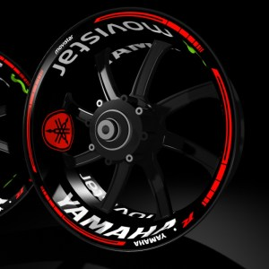 Rim Stickers kit for Yamaha R1 Movistar Kit PRO