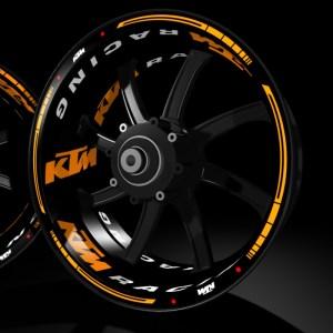 Pegatinas para llantas de moto KIT PRO KTM