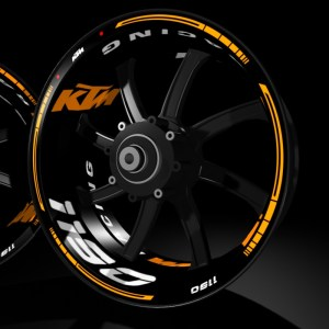 models kit pro KTM 1190 pegatina llanta rueda moto vinilo adhesivo tuning rim sticker kit stripes wheel motorcycle vinyl racevinyl