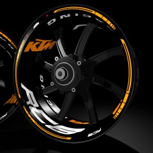 models kit pro KTM RC8 pegatina llanta rueda moto vinilo adhesivo tuning rim sticker kit stripes wheel motorcycle vinyl racevinyl
