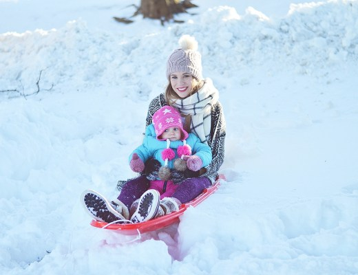 Sledding with the family by lifestyle blogger Rachael Burgess