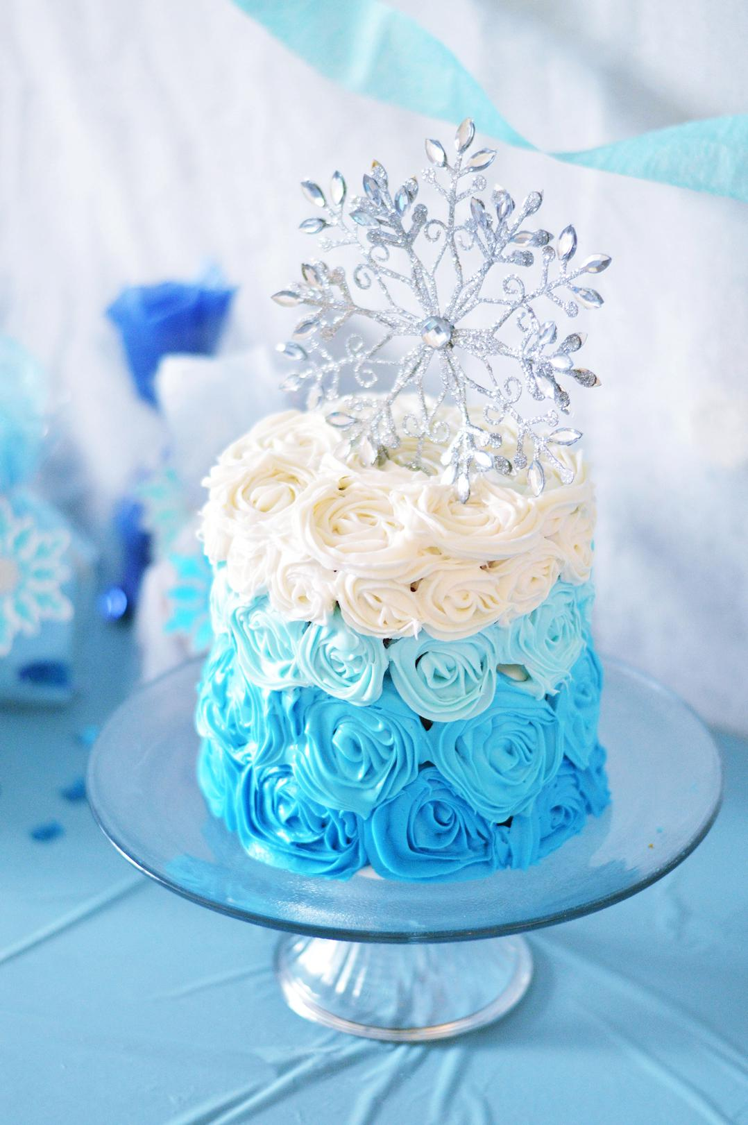 DIY Frozen Party Easy Beautiful Frozen Cake Frozen Party