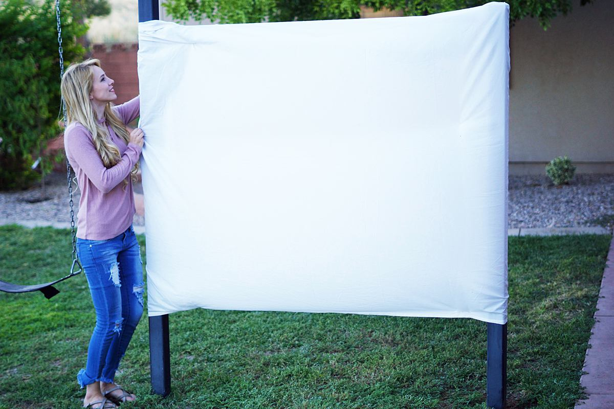 build your own at home drive in theater w a projector rachael