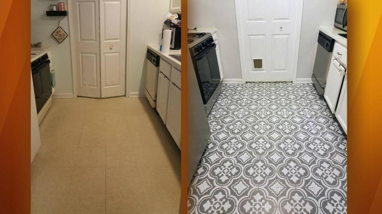 how to turn your linoleum floor into a masterpiece