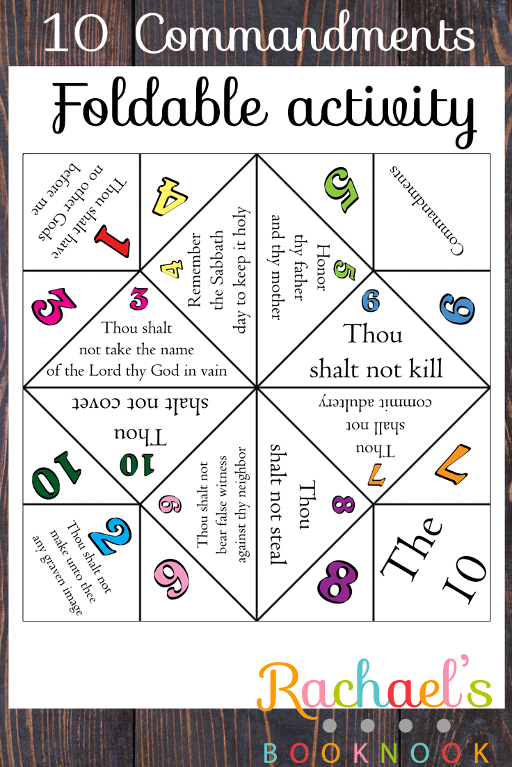 photo regarding Ten Commandments Printable Activities known as Key 6 Lesson 21 10 Commandments Foldable - Rachaels