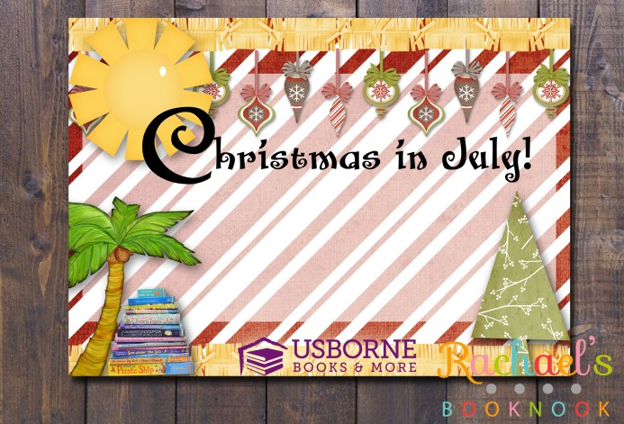Christmas in July invite flyer