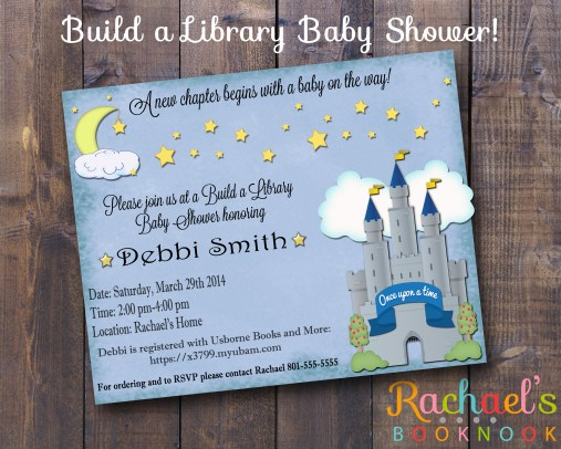 build a library invite flyer